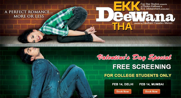 Watch Ek Deewana Tha for FREE for Delhi & Mumbai College Students