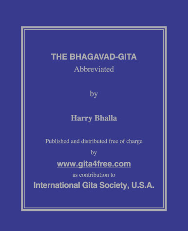 "Get Free The Holy Book ""GITA"" in all India"