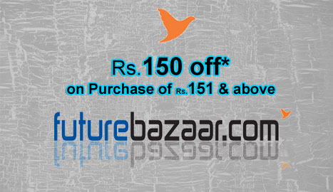 Rs.150 Off on Rs.151 and above Coupon at Futurebazaar