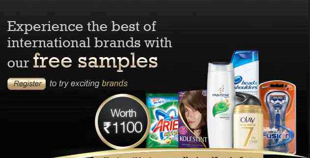 Get free sample from P&G Worth of Rs.1100 by RewardMe