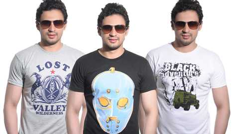 Pack of 3 Hsein Cotton T-Shirts at just Rs.499 - Free Shipping
