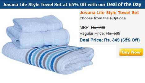 Set of three Jovana Life Style Towel at just Rs.349 - Free Shipping