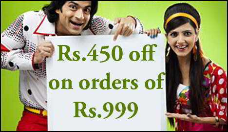 Rs.450 off on orders of Rs.999