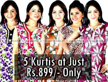 5 Branded Kurti at Just Rs. 899 Only