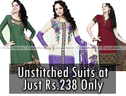 Varsha Unstitched Suits 238 Only