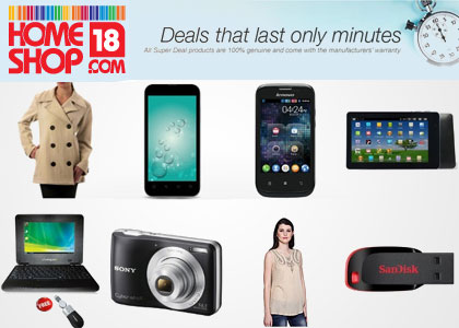 14 January 2013 HomeShop18 Supper Deals - SanDisk 8GB at 279 & More