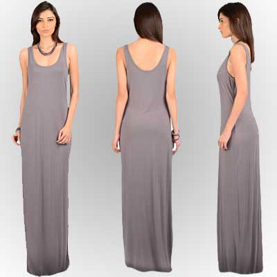 SHER SINGH WOMEN MALENA DRESS IN ASH GREY