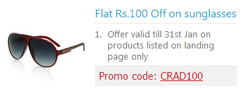 Flat 100 Rs. Off on Snapdeal