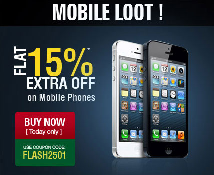 Midnight Mobile Loot - FLAT 15% Extra Off on Mobile Phones