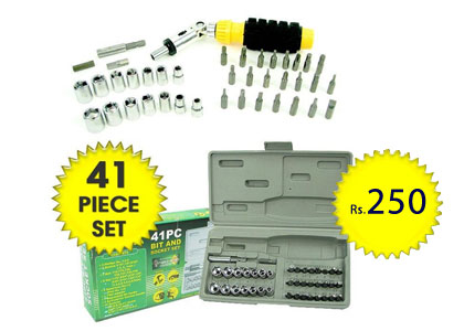 41 Piece Keyas Screwdriver Bit & Socket Set at just Rs.250 only