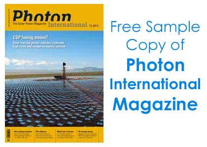 Get Free Sample Copy of Photon International Magazine