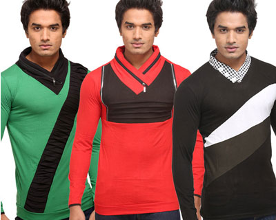 Set of 3 John Carry Stylish T Shirt at Just Rs.849   Seventymm (Many Options) mens apparel