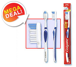 [Sold Out] Pack of 2 Colgate Extra Clean Toothbrush at just Rs.19   Tradus Mega Deal discount 2