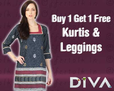 Buy 1 Get 1 Free on Diva Kurtis & Leggings