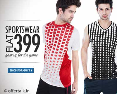 Branded Sports Wear Tees & Shorts at Flat Rs. 399 Only fitness