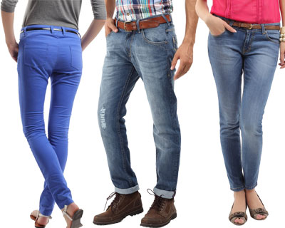 Flat 40% OFF on Roadster Jeans Starting at just Rs.599 @ Myntra womens apparel mens apparel