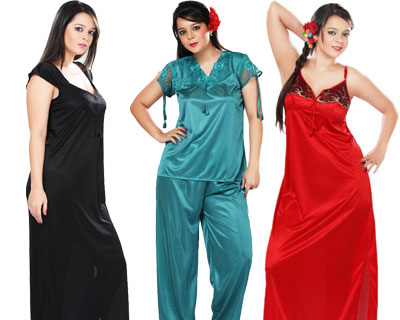 Womens Nightwear worth Rs.1350 starting at just Rs.400 @ HomeShop18 womens apparel