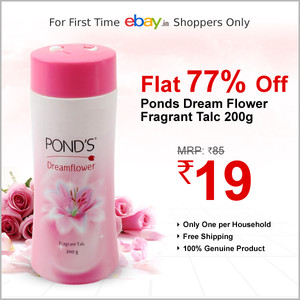 ponds talc at 19