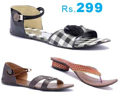 F3 Fashion For Feet Women's Footware at Rs.299 - Many Options Available
