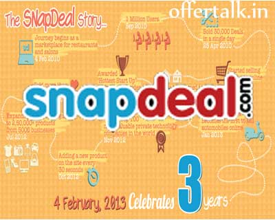 Happy Birthday to Snapdeal   Flat 50% Off on 3rd Birthday discount 2
