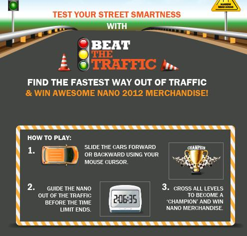 Play Beat The Traffic & Get Tata nano Merchandises (Free)