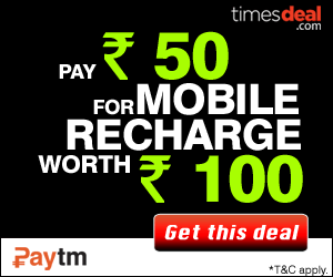 Get Rs.100 Mobile Recharge in Just Paying Rs.50 at paytm.com