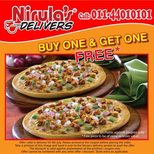 NIRULA's Buy 1 Get 1 Free Coupon