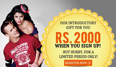 Signup now and get Rs. 2000 Voucher For Free - Jabong