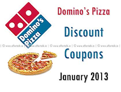 Dominos Coupon for January 2013