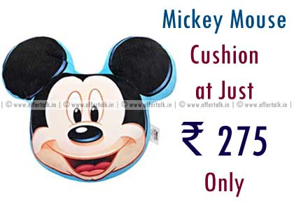 Mickey Mouse Cushion at Just ₹ 275 Only